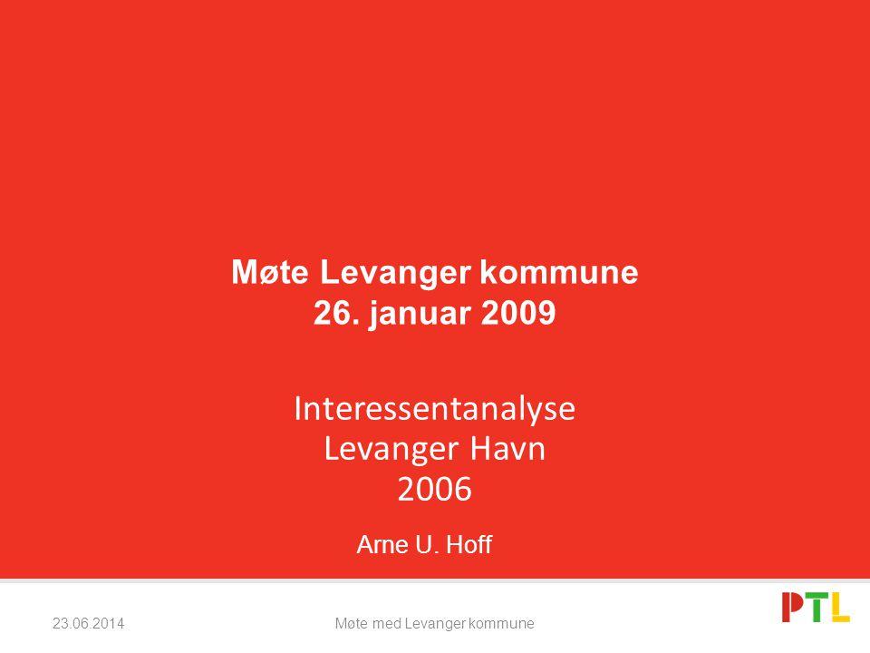 23.06.2014Møte med Levanger kommune Vi har intervjuet 42 personer.