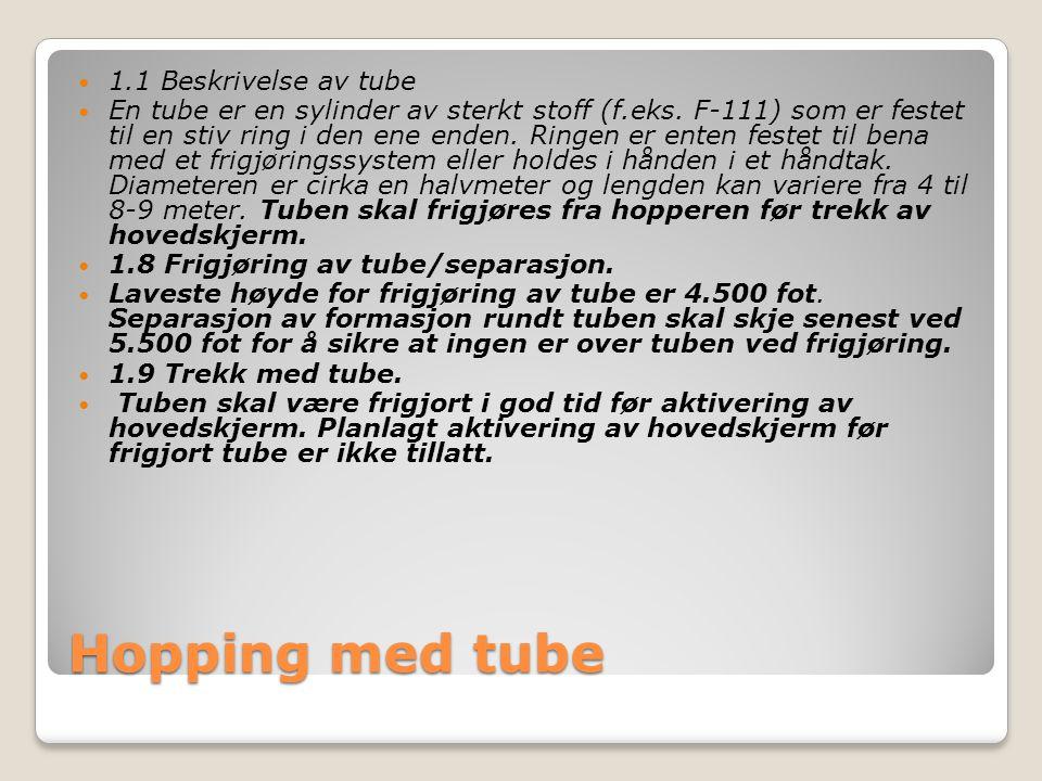 Hopping med tube  1.1 Beskrivelse av tube  En tube er en sylinder av sterkt stoff (f.eks.
