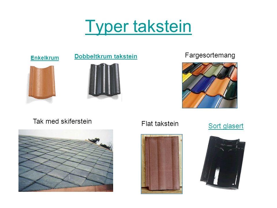 Legging av takstein •Legging av betongtakstein varierer med de ulike kvalitetene og produsenter.