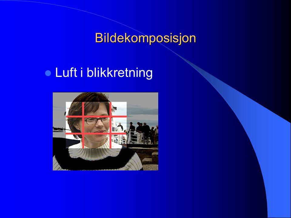 Bildekomposisjon  Luft i blikkretning