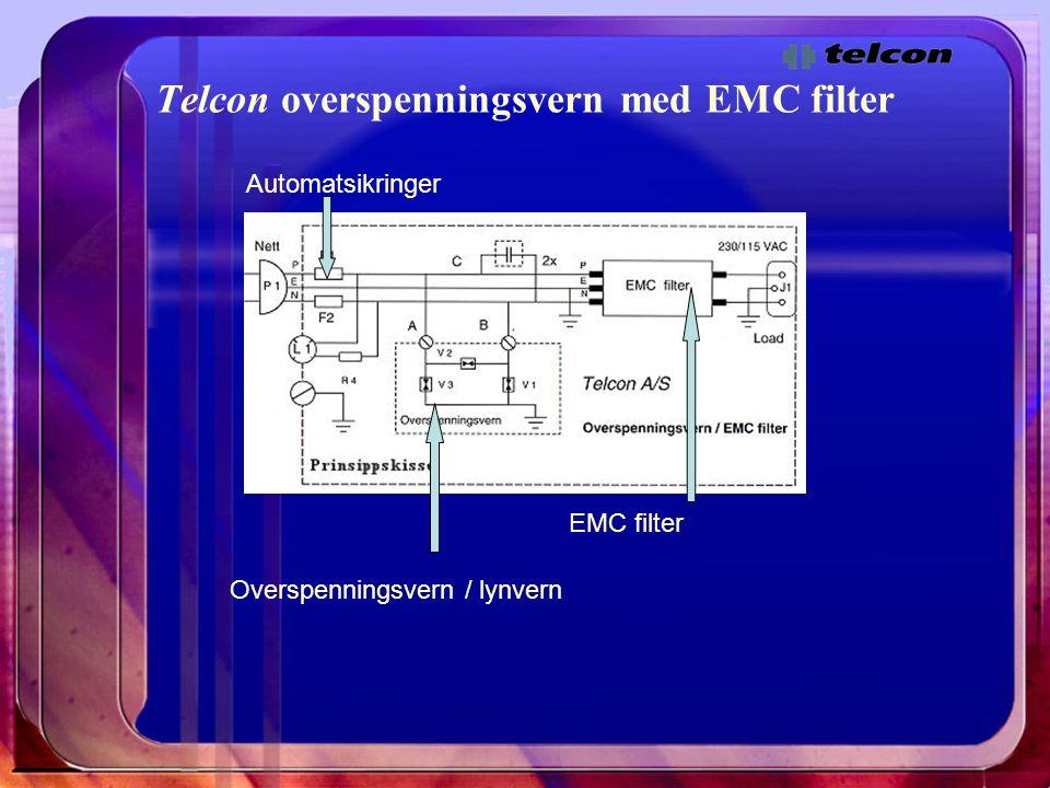 Telcon overspenningsvern med EMC filter Overspenningsvern / lynvern EMC filter Automatsikringer