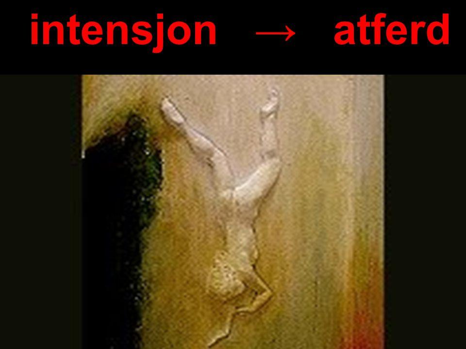 Håvar Brendryen, Stipendiat, Psykologisk institutt intensjon → atferd