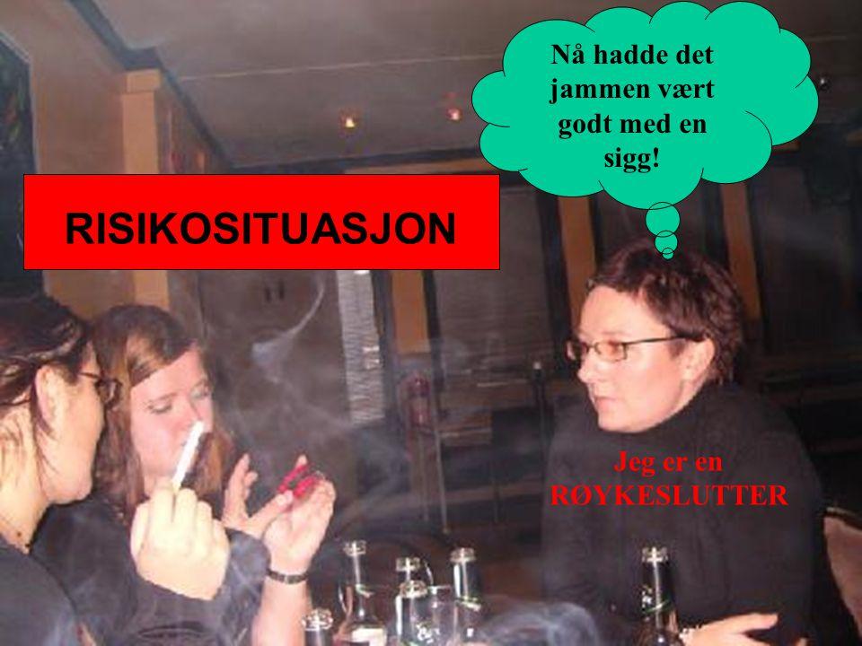 Håvar Brendryen, Stipendiat, Psykologisk institutt RISIKOSITUASJON Jeg er en RØYKESLUTTER Nå hadde det jammen vært godt med en sigg!