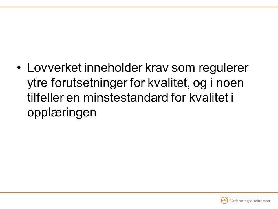 Hva er god kvalitet i vår kommune/ fylkeskommune.