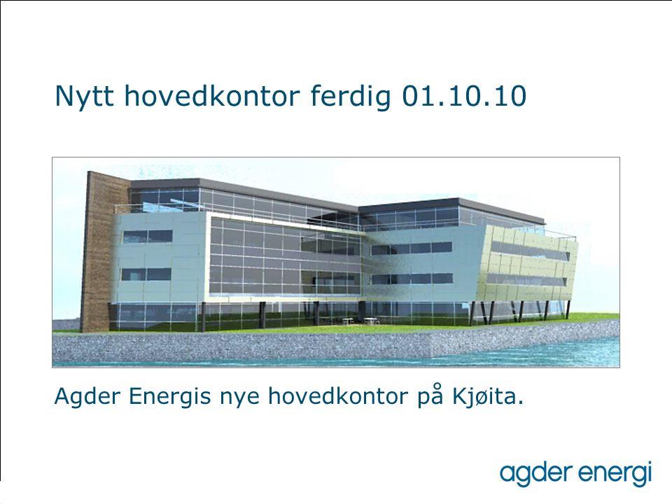 Agder Energis nye hovedkontor på Kjøita. Nytt hovedkontor ferdig 01.10.10
