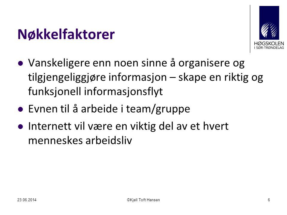 Forstudiefasen  Mål  Rammer  Kost/nytte  Alternativ analyse  Risikoanalyse  Planlegging  Anbefaling om videreføring 23.06.2014©Kjell Toft Hansen27