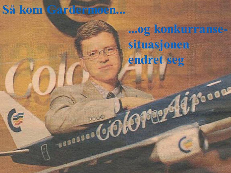 © SørgardKonkurransestrategi7 Så kom Gardermoen......og konkurranse- situasjonen endret seg