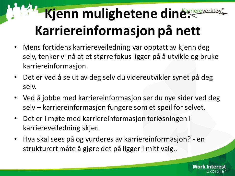 Å svømme i karriereinfo!!!.