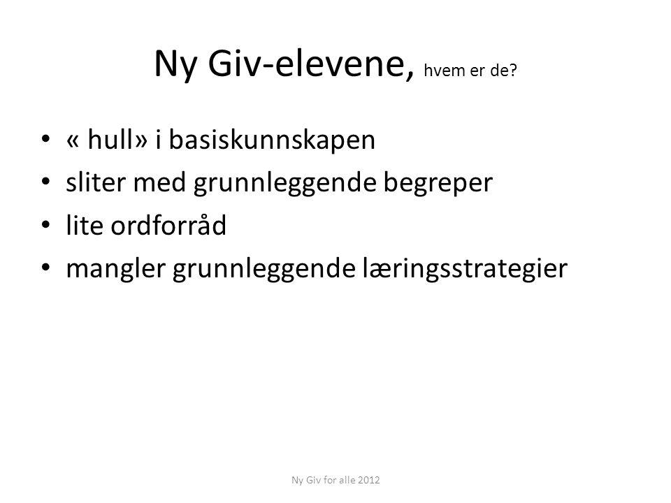 Et nytt ordsom betyrog kan brukes slik Ny Giv for alle 2012