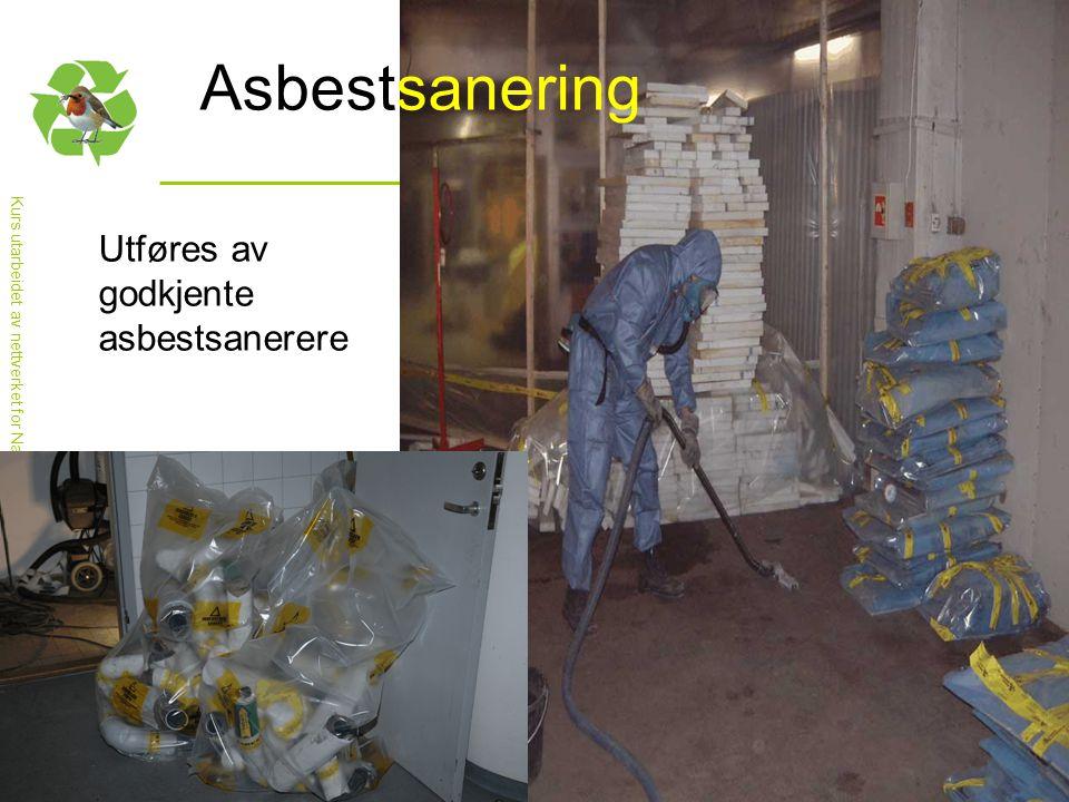 Kurs utarbeidet av nettverket for Nasjonal handlingsplan for bygg- og anleggsavfall Asbestsanering Utføres av godkjente asbestsanerere