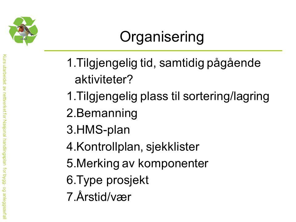 Kurs utarbeidet av nettverket for Nasjonal handlingsplan for bygg- og anleggsavfall Referanser 1.www.miljosanering.nowww.miljosanering.no 2.www.lovdata.nowww.lovdata.no