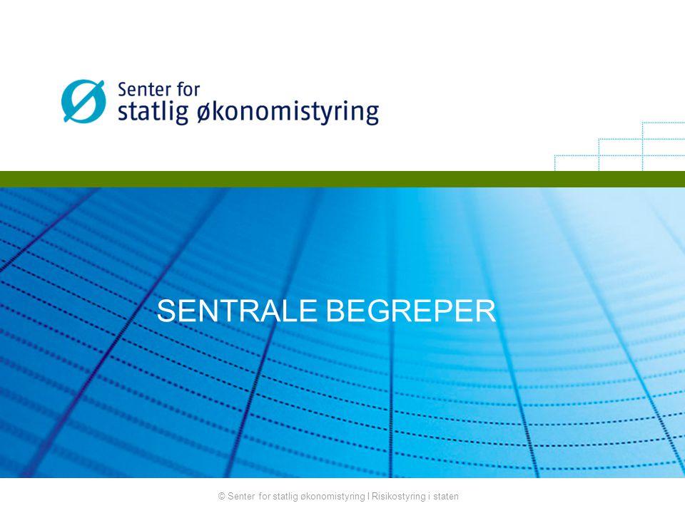 © Senter for statlig økonomistyring I Risikostyring i staten SENTRALE BEGREPER