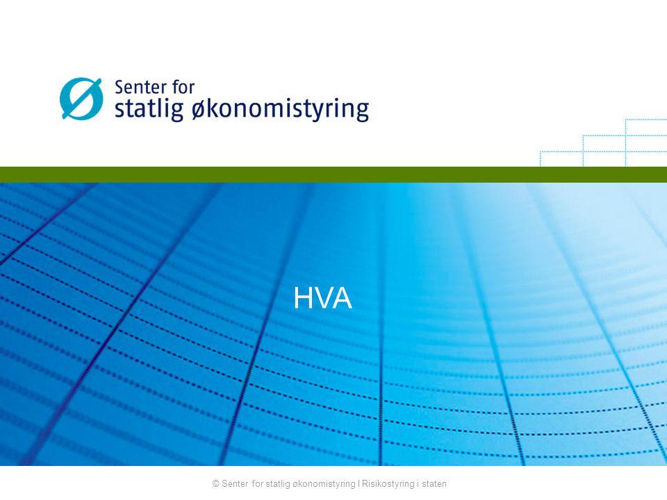 © Senter for statlig økonomistyring I Risikostyring i staten HVA