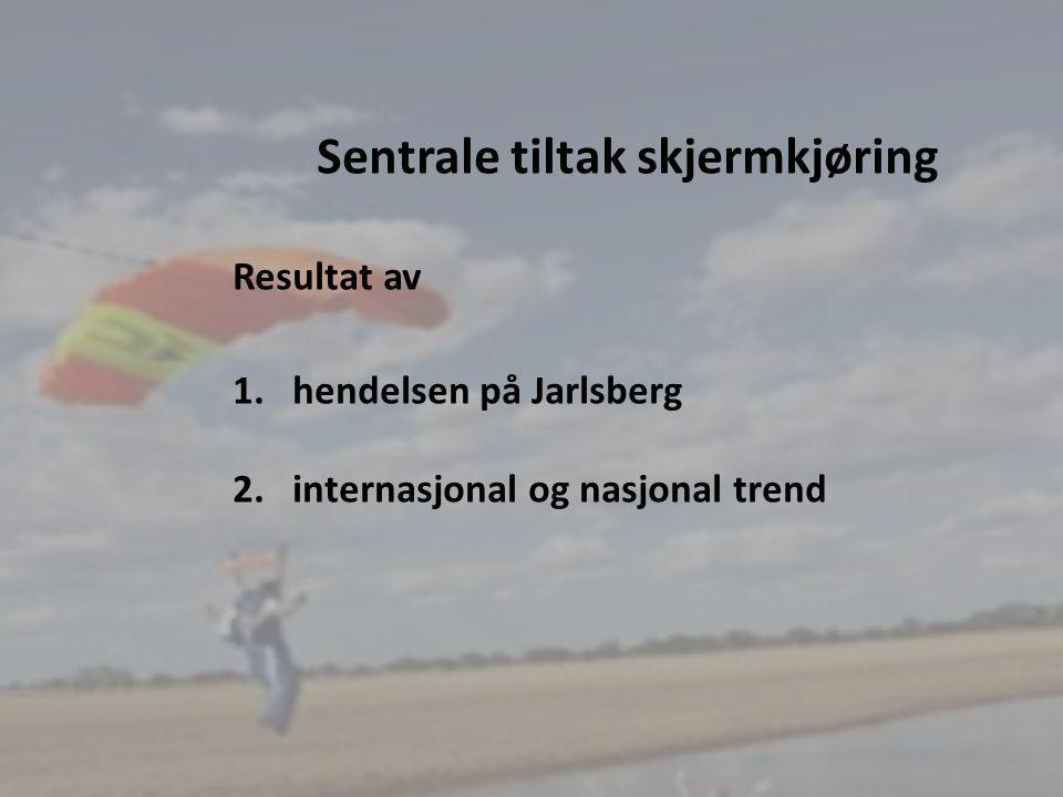13 SU møte 2/2012 Egenhastighet: En fallskjerms egenhastighet er dens konstante hastighet ved flyving rett fram, etter at bremsen er løsnet og uten påvirkning fra hopperen eller andre ytre krefter .