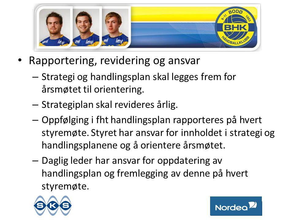 • Rapportering, revidering og ansvar – Strategi og handlingsplan skal legges frem for årsmøtet til orientering.