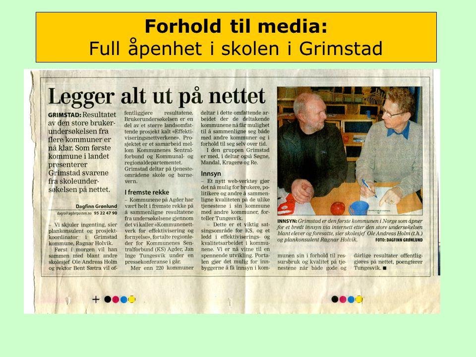 Forhold til media: Full åpenhet i skolen i Grimstad