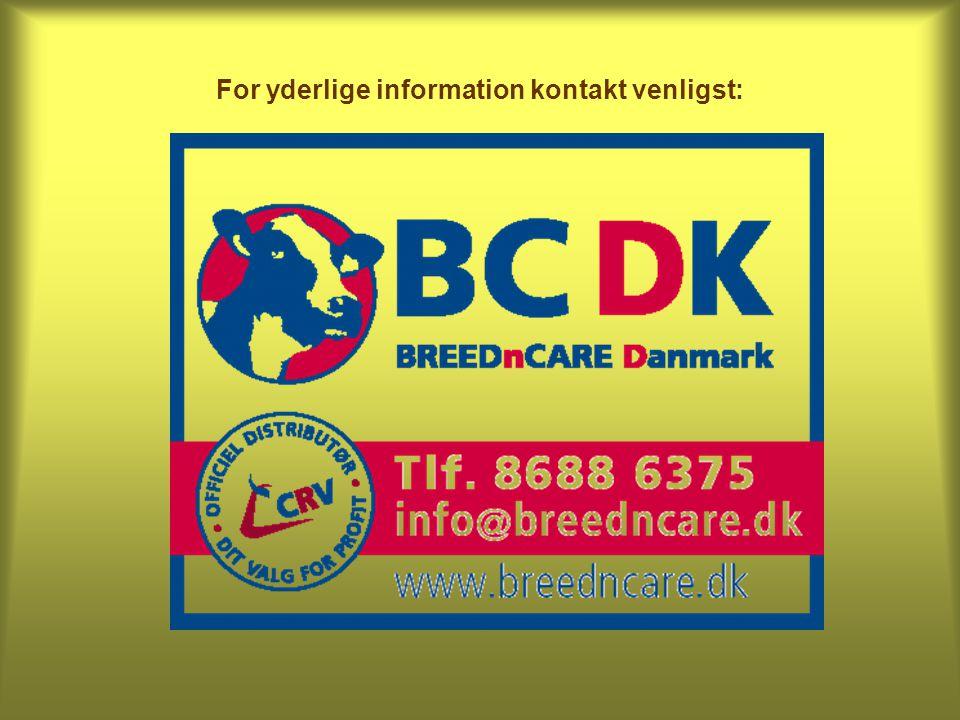 For yderlige information kontakt venligst: