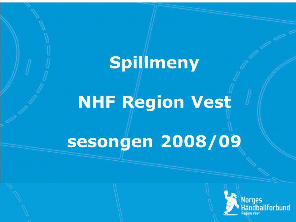 Klikk for å redigere tittelstil Klikk for å redigere undertittelstil i malen Klikk for å redigere tittelstil Spillmeny NHF Region Vest sesongen 2008/0