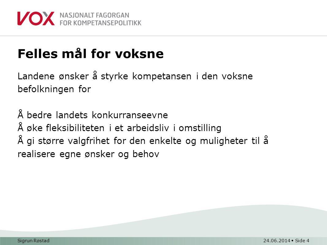 Realkompetansearbeid i Norge Realkompetanseprosjektet (1999-2002): etablere et system som gir voksne rett til å dokumentere sin realkompetanse uten å gå veien om tradisjonelle prøveordninger.