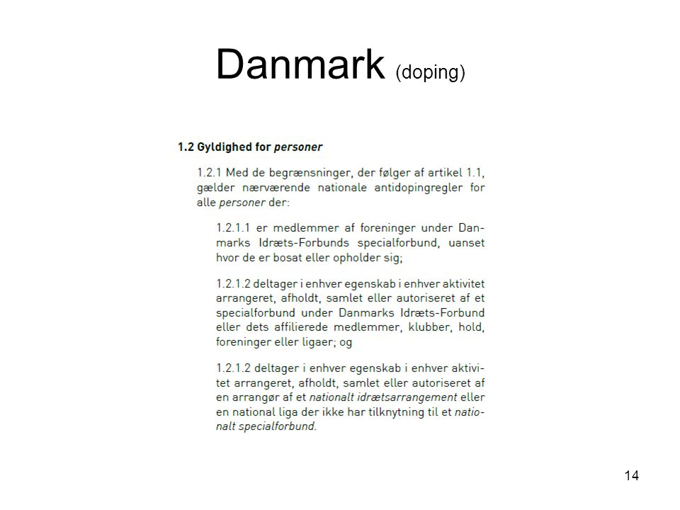 Danmark (doping) 14