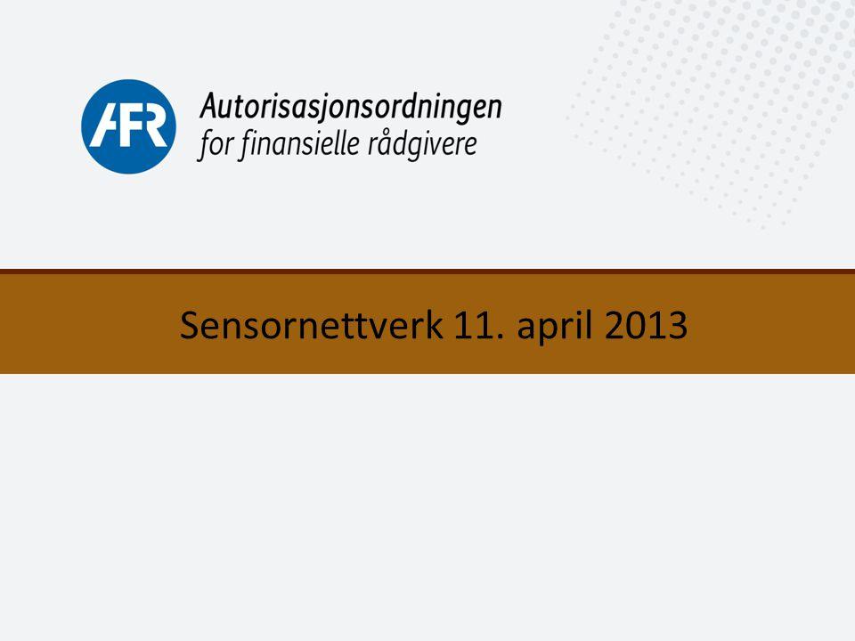 1 Sensornettverk 11. april 2013