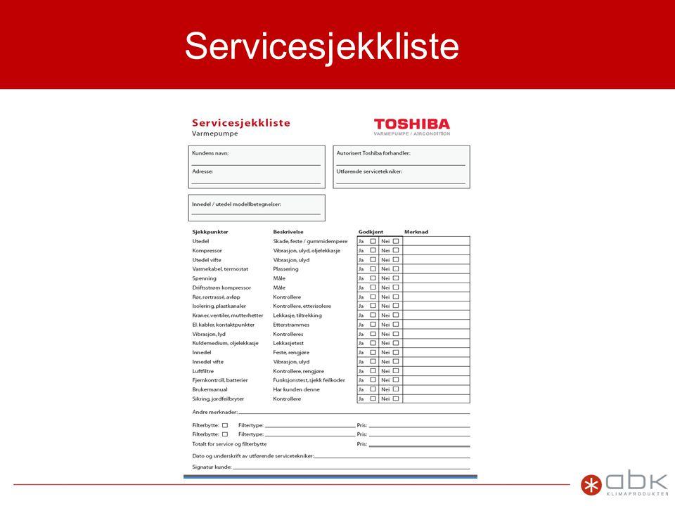 Servicesjekkliste