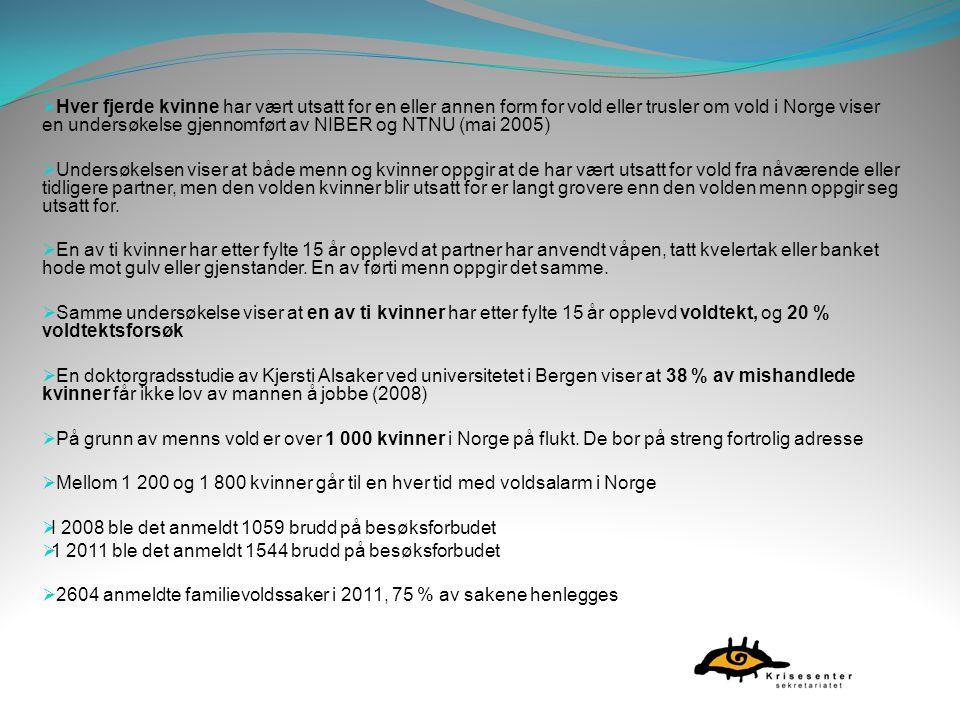  Hver fjerde kvinne har vært utsatt for en eller annen form for vold eller trusler om vold i Norge viser en undersøkelse gjennomført av NIBER og NTNU