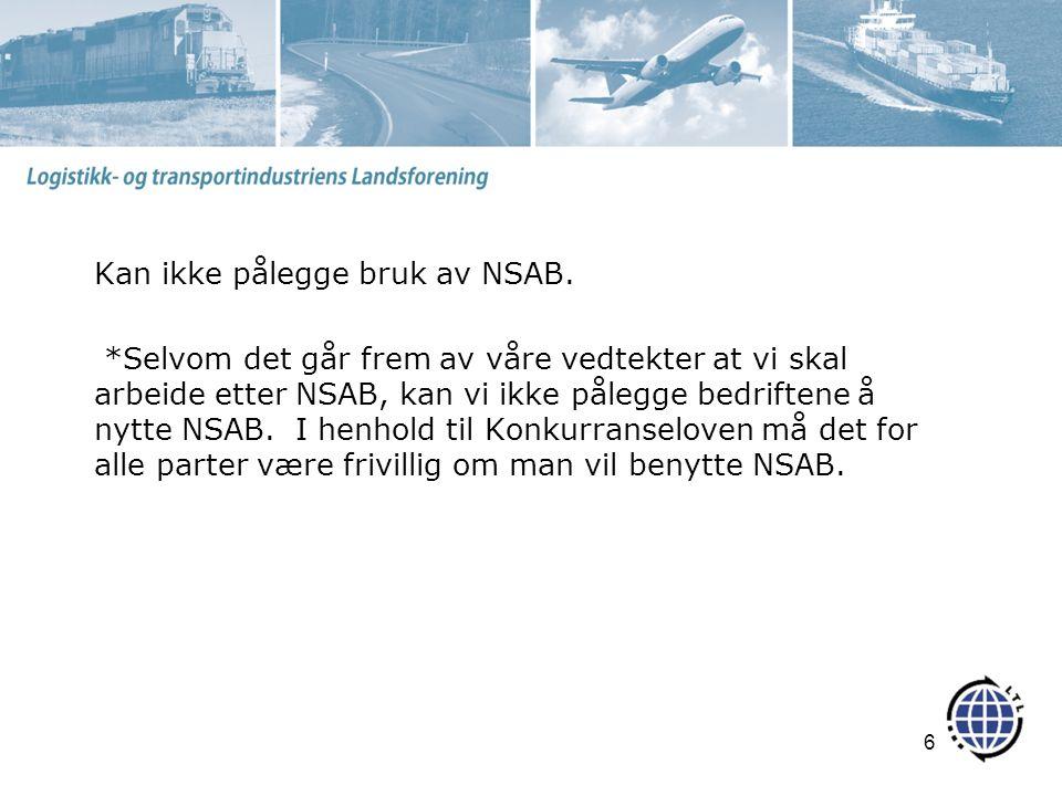 Kan ikke pålegge bruk av NSAB.