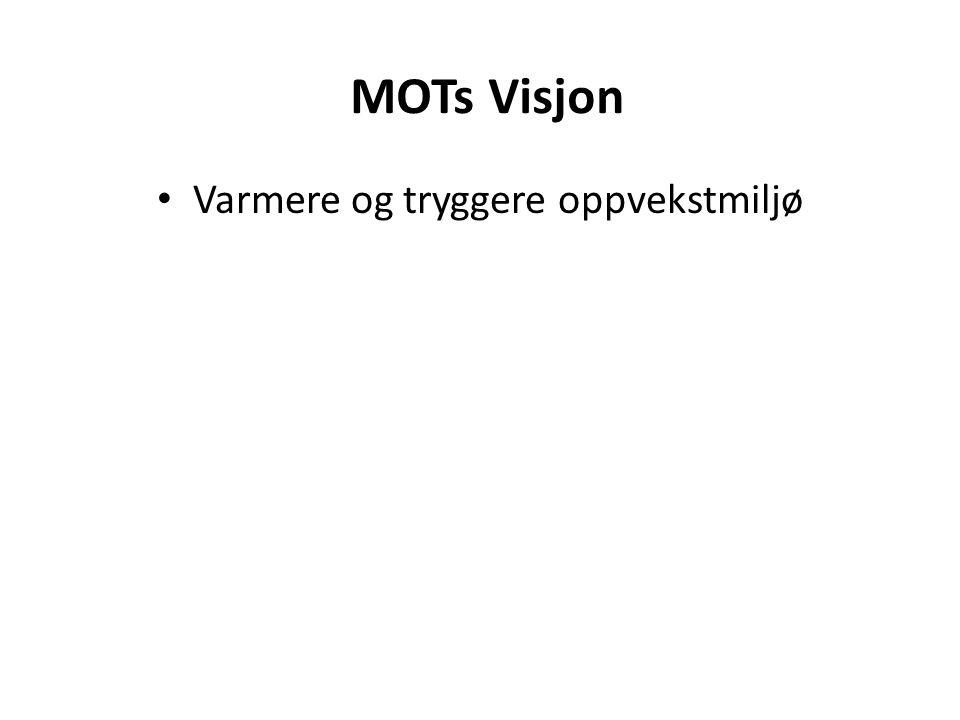MOTs Visjon • Varmere og tryggere oppvekstmiljø