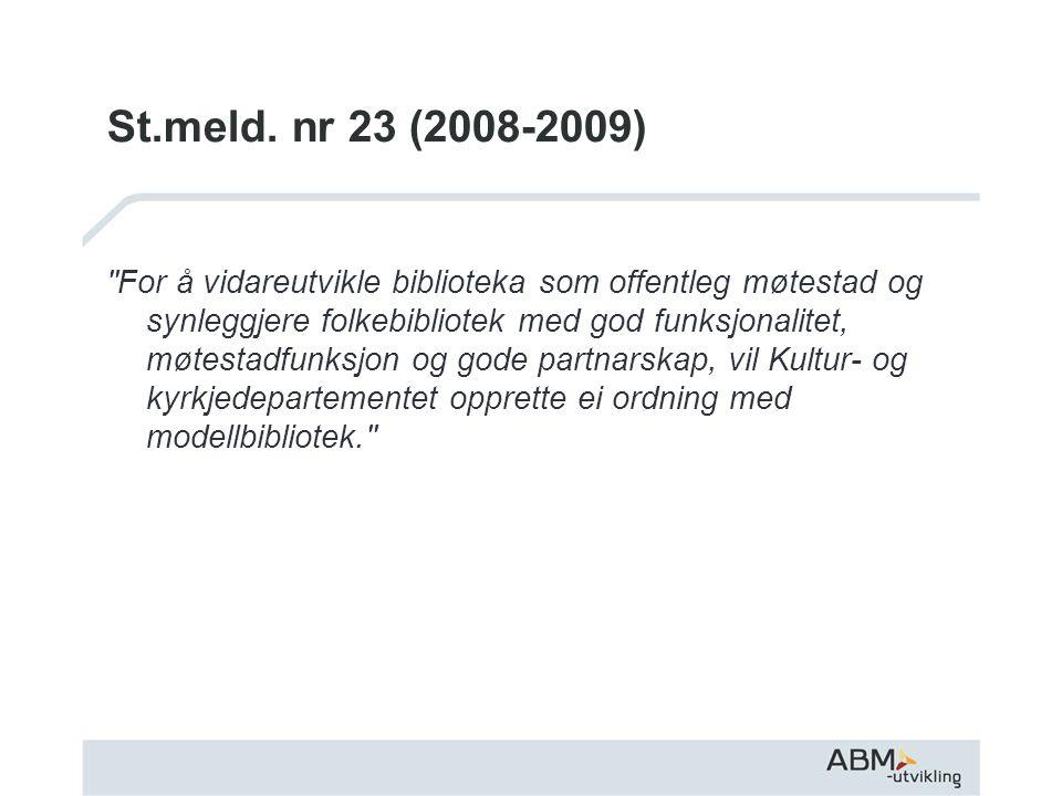 St.meld. nr 23 (2008-2009)