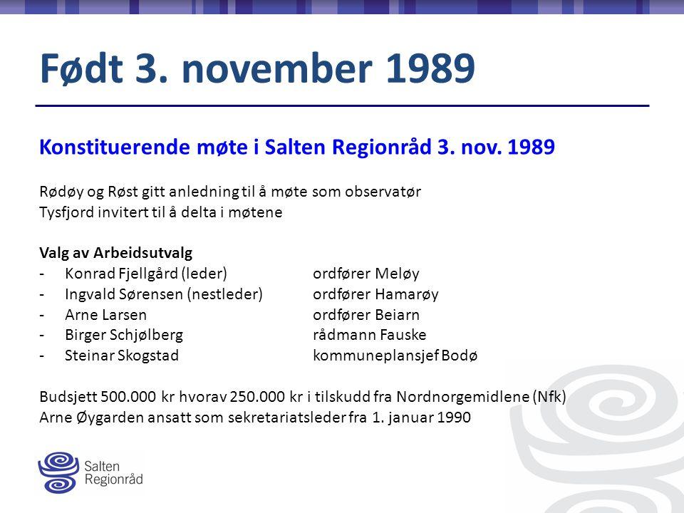 Konstituerende møte i Salten Regionråd 3. nov.