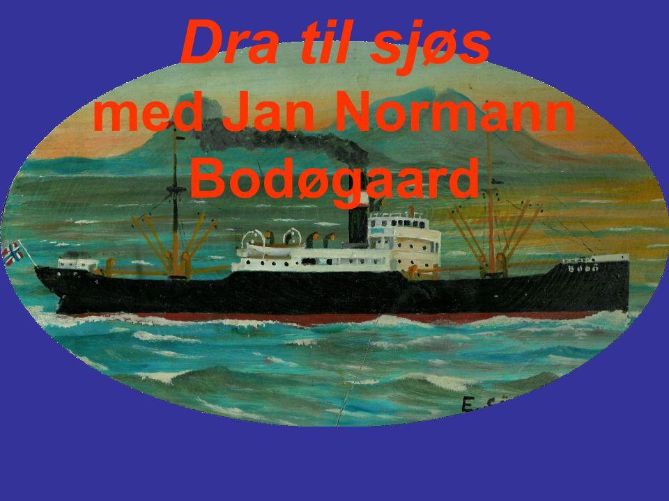 Her er Jan ombord i d/s Bodø.Han mønstret på som lettmatros høsten 1935, 18 år gammel.