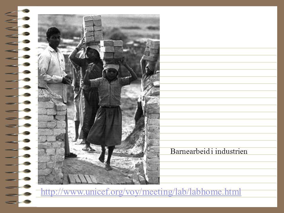 http://www.unicef.org/voy/meeting/lab/labhome.html Barnearbeid i landbruket