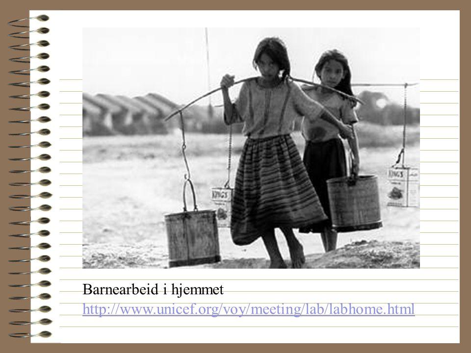 Barnearbeid i hjemmet http://www.unicef.org/voy/meeting/lab/labhome.html