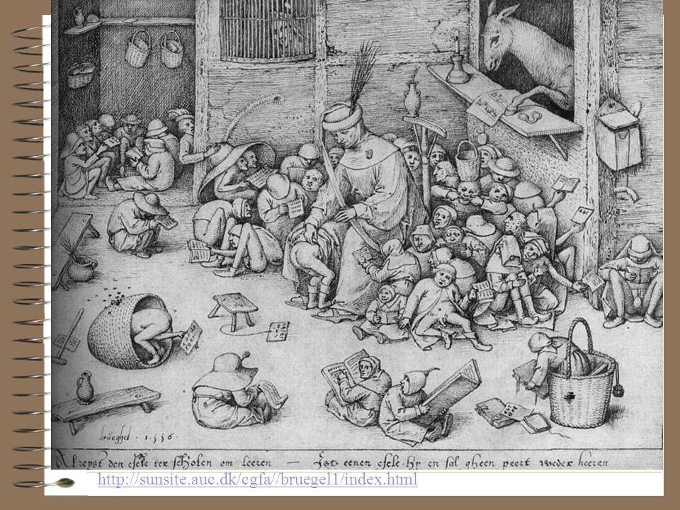 """Forts. •Det foregående bildet: Brueghel, Pieter (1525-1569: """"Vinter"""" http://www.i-a-s.de/IAS/Bilder/BRUEGEL/Winter.htm •Middelalder og rennessanse-sam"""