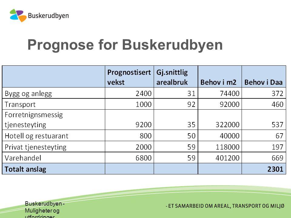 Prognose for Buskerudbyen Buskerudbyen - Muligheter og utfordringer