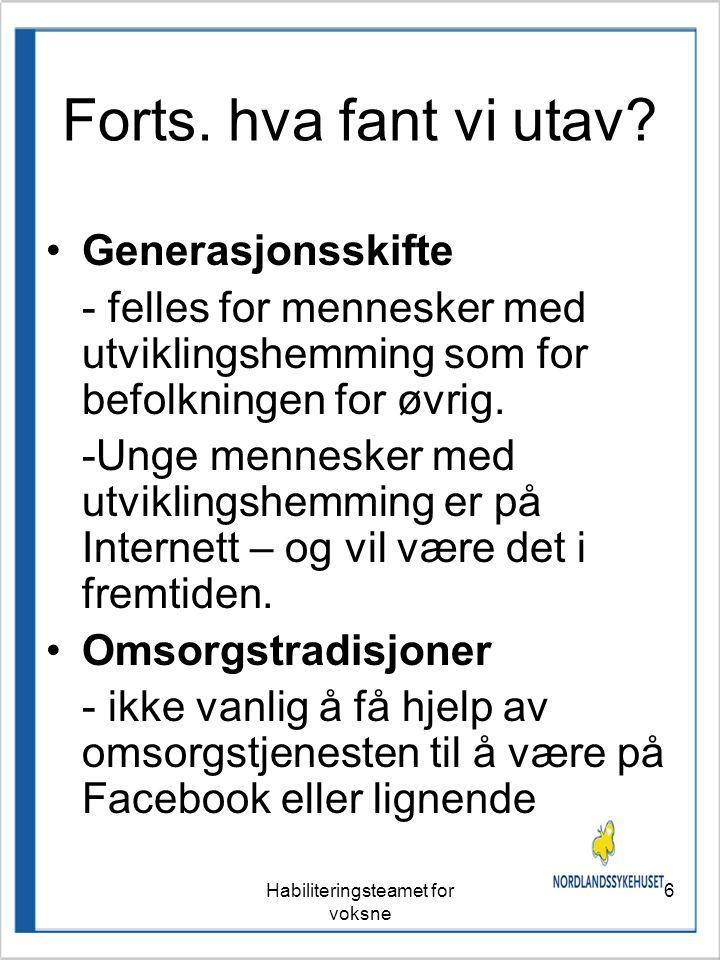Hege Nilsen og Anne Liv Engbråten. Habiliteringsteamet for voksne
