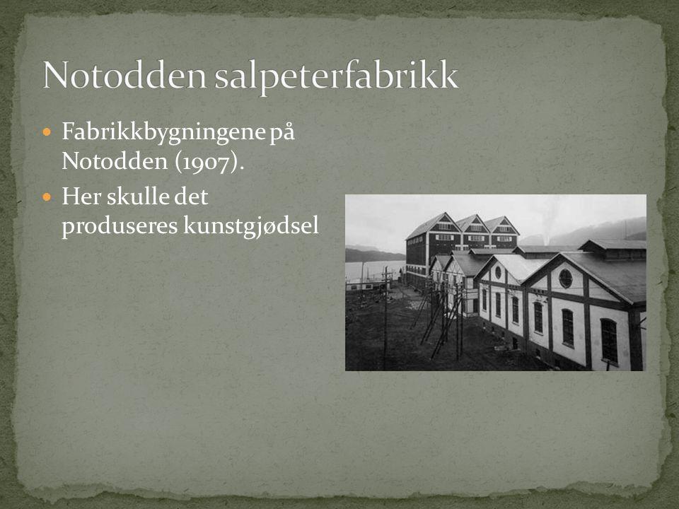  Kraftstasjonen Svælgfos I sto ferdig i 1907  Den produserte strøm til fabrikken som laget kunstgjødsel.  Denne fabrikken ble Norsk Hydro.