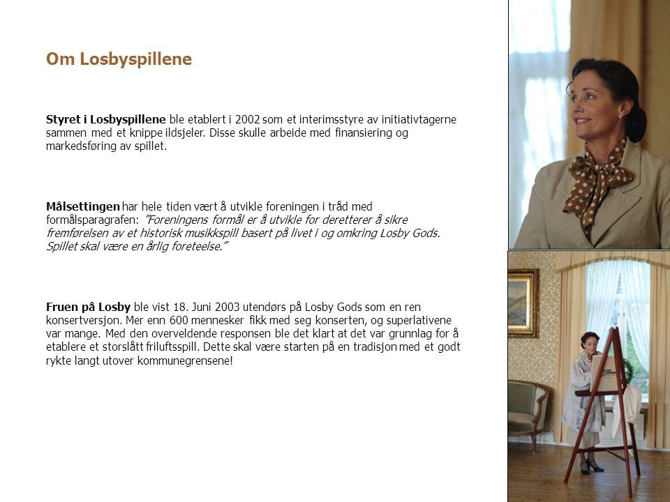 Styret i Losbyspillene ble etablert i 2002 som et interimsstyre av initiativtagerne sammen med et knippe ildsjeler. Disse skulle arbeide med finansier