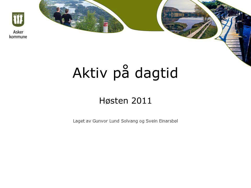 Aktiv på dagtid Høsten 2011 Laget av Gunvor Lund Solvang og Svein Einarsbøl