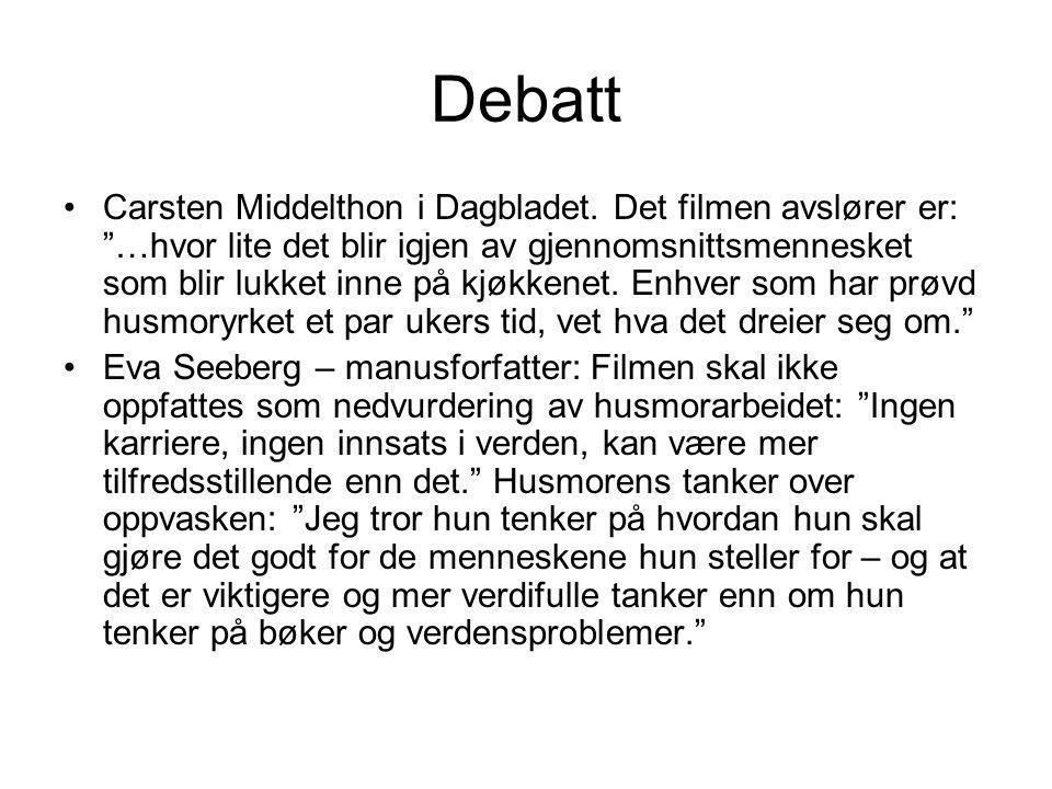 """Debatt •Carsten Middelthon i Dagbladet. Det filmen avslører er: """"…hvor lite det blir igjen av gjennomsnittsmennesket som blir lukket inne på kjøkkenet"""