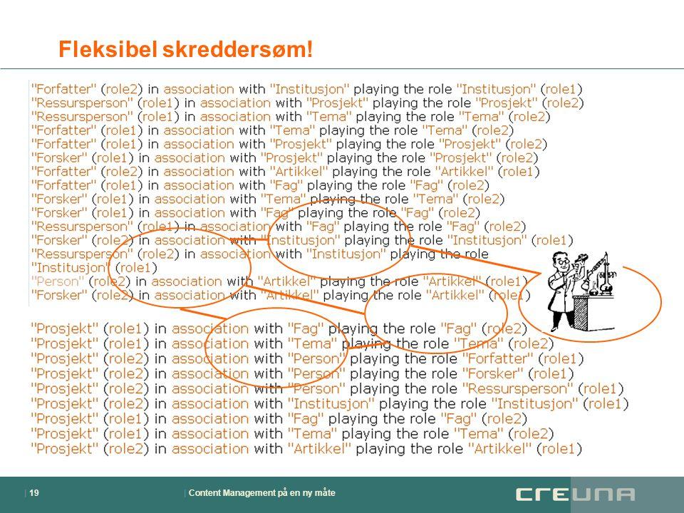 | Content Management på en ny måte| 19 Fleksibel skreddersøm!