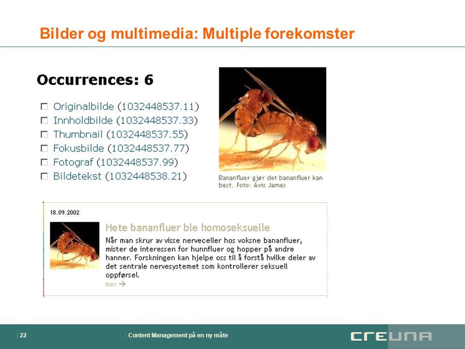 | Content Management på en ny måte| 22 Bilder og multimedia: Multiple forekomster