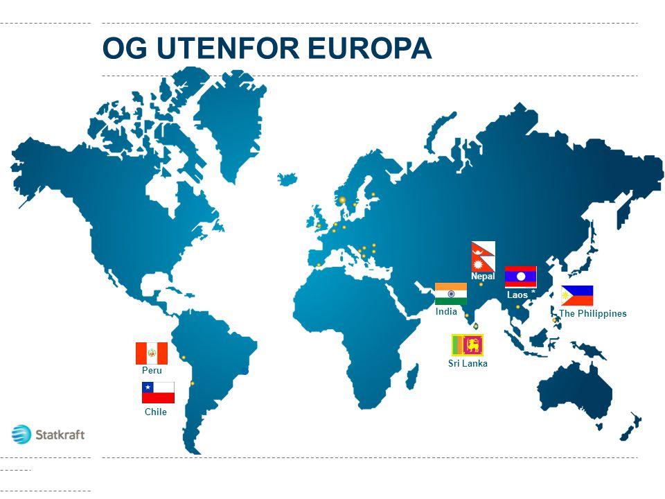 • 218 vannkraftverk i Europa • 3 vindparker i Norge, flere prosjekter i UK • 4 gasskraftverk i Tyskland, ett i Norge • Fjernvarme i Norge og Sverige