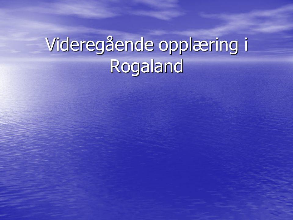 Videregående opplæring i Rogaland