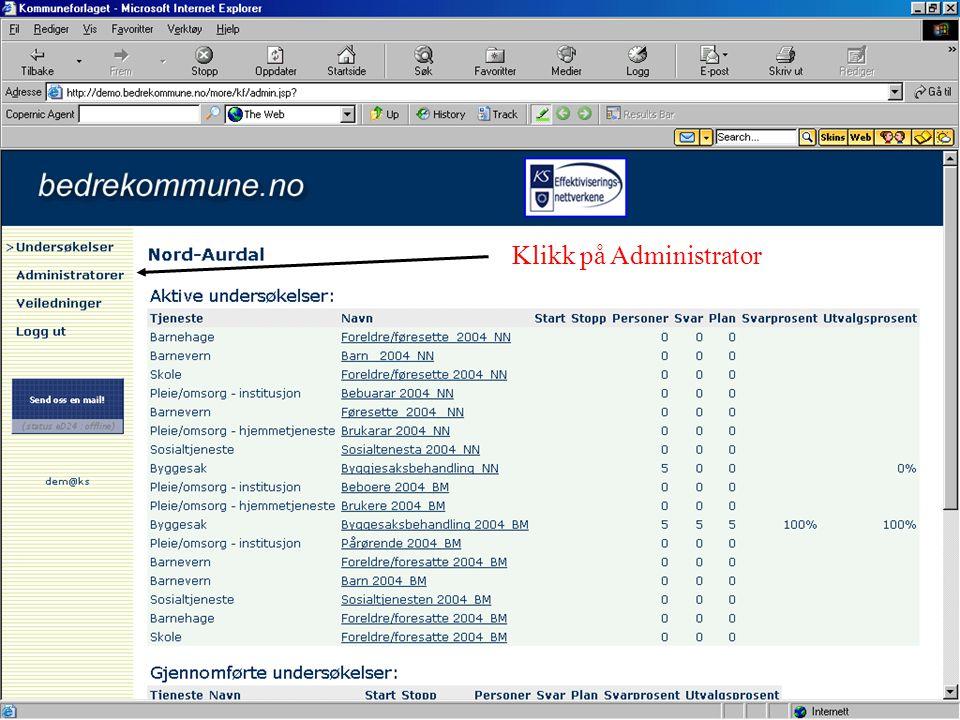 Klikk på Administrator