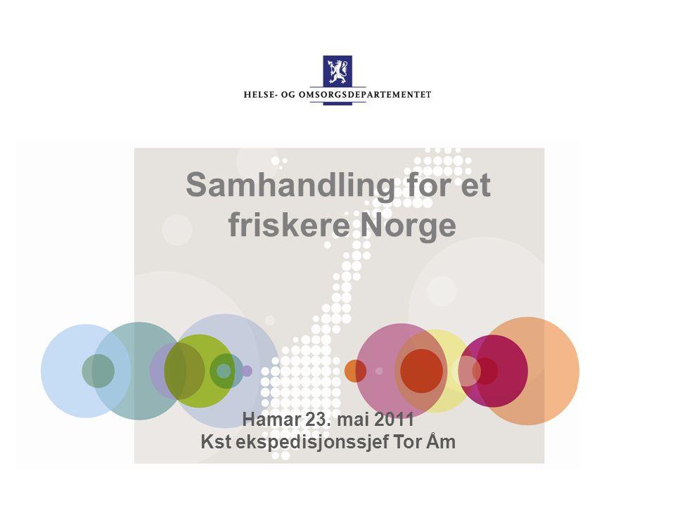 Samhandling for et friskere Norge Hamar 23. mai 2011 Kst ekspedisjonssjef Tor Åm
