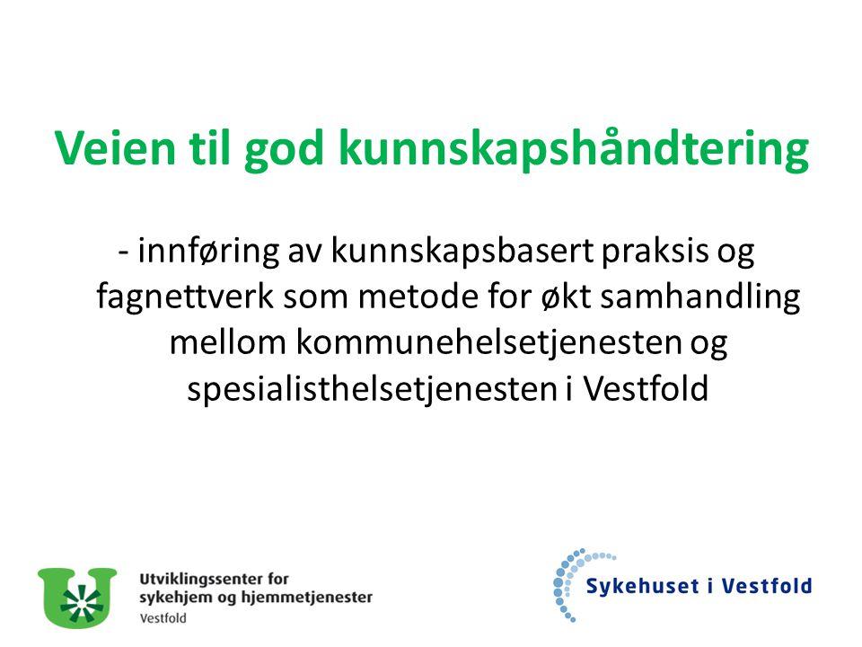 Veien til god kunnskapshåndtering - innføring av kunnskapsbasert praksis og fagnettverk som metode for økt samhandling mellom kommunehelsetjenesten og