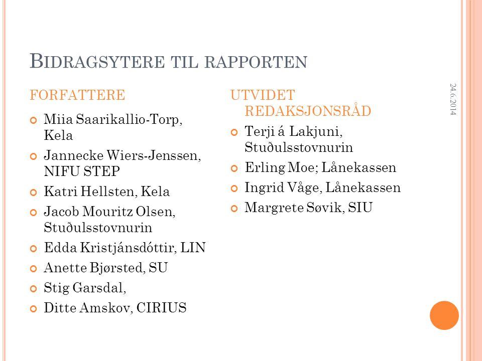 Research Department A NDEL SOM ARBEIDER I UTLANDET PÅ SURVEYTIDSPUNKTET 24.6.2014