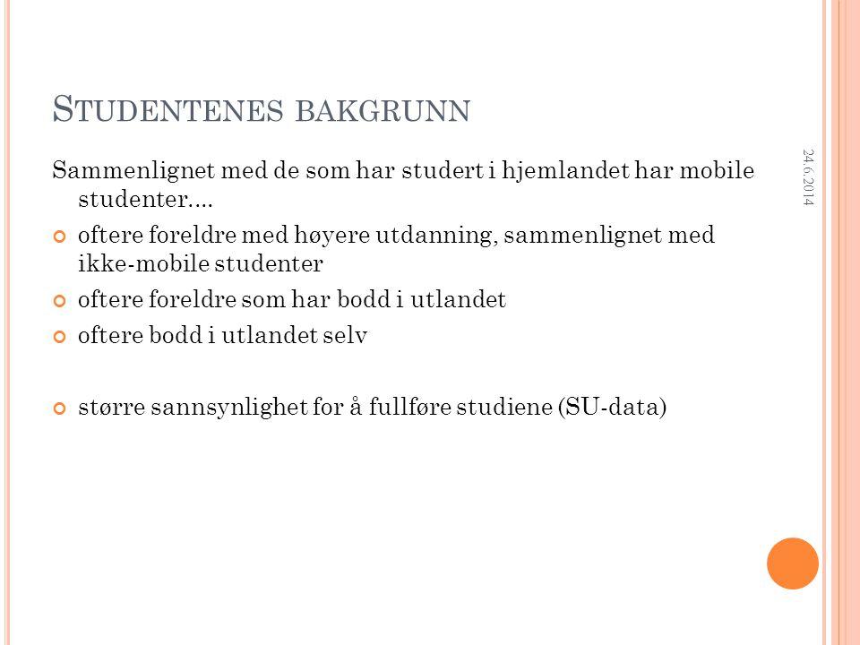Research Department BRUK AV KOMPETANSE I ARBEIDET 24.6.2014
